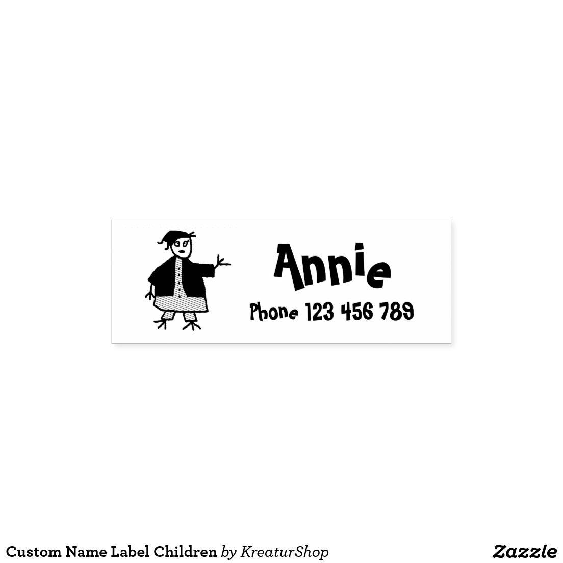 Custom Name Label Children Self-inking Stamp