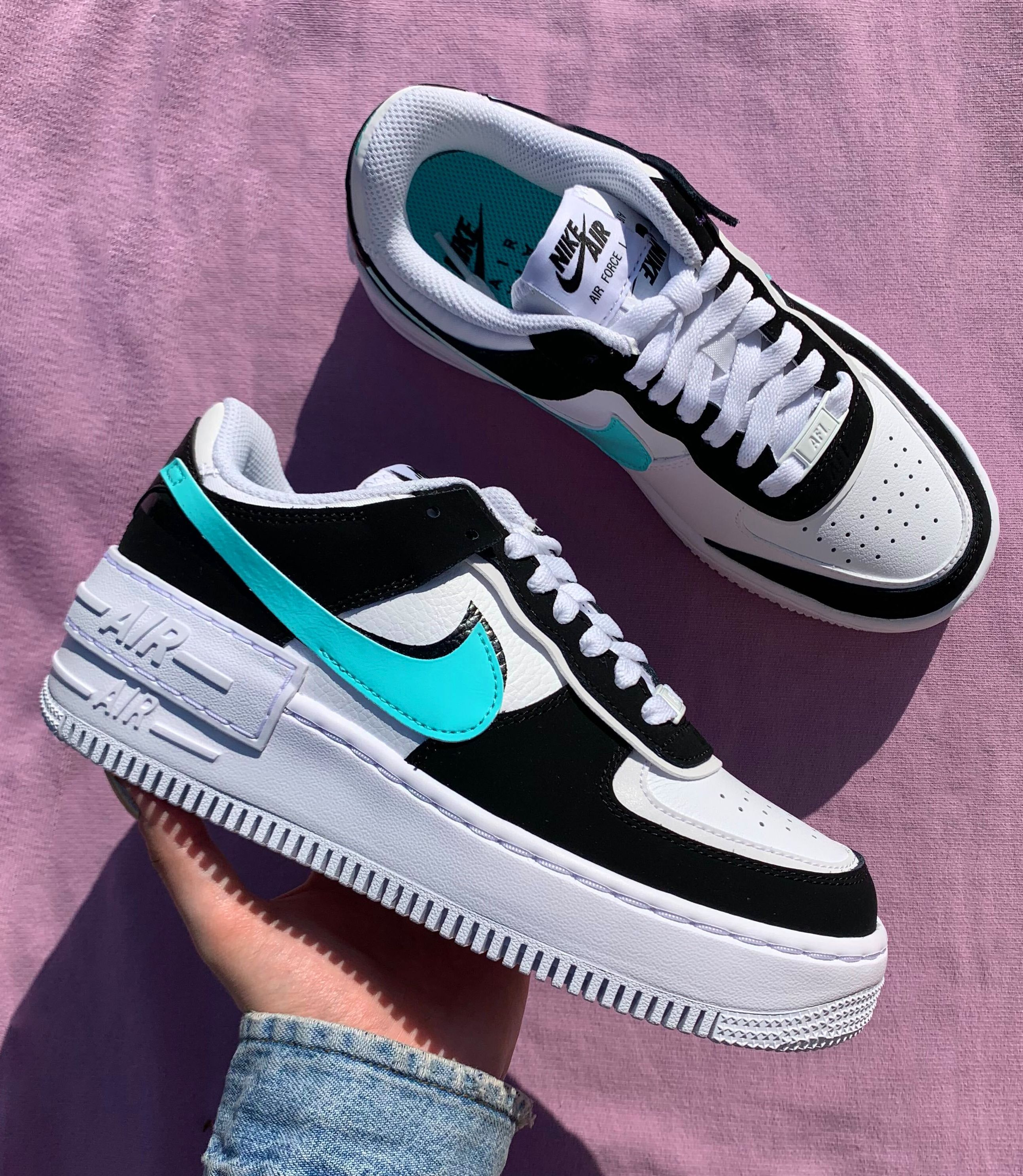 Nike Air Force 1 Shadow White Black Cz7929 100 The Sole Womens In 2020 Nike Air Shoes Custom Nike Shoes Sneakers Fashion Женские nike air force 1 shadow with orange accents. nike air force 1 shadow white black