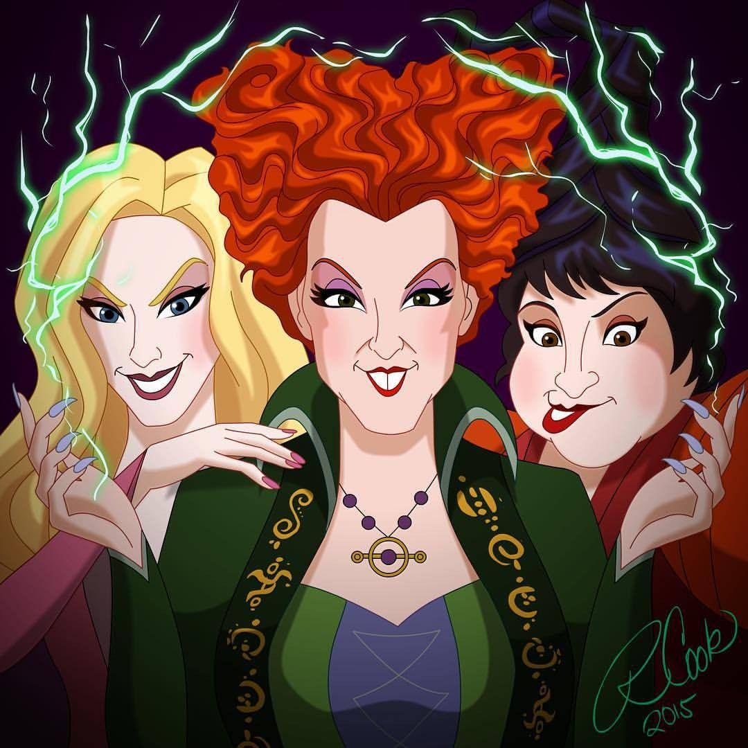 Hocus Pocus Winifred, Sarah and Mary the Sanderson