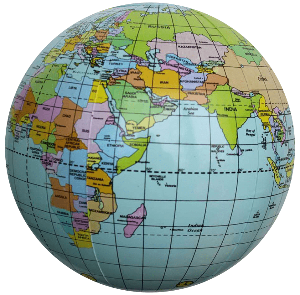 Worldmap Earth Geography Understanding The World Map - Round world map image
