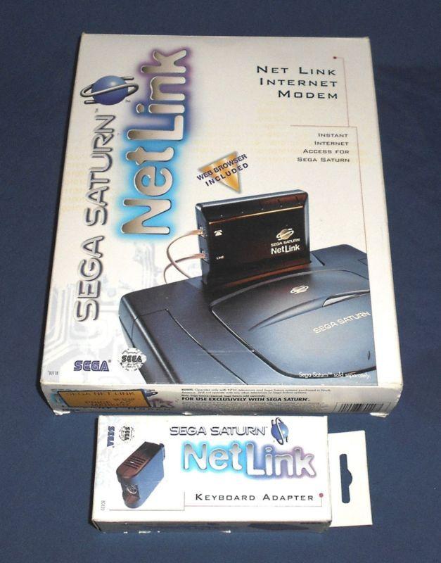Sega Saturn Net Link Internet Modem And Keyboard Adapter Retrogaming Hotss Complete In Box Bin Auction From The Us Sega Saturn Retro Gaming Saturn
