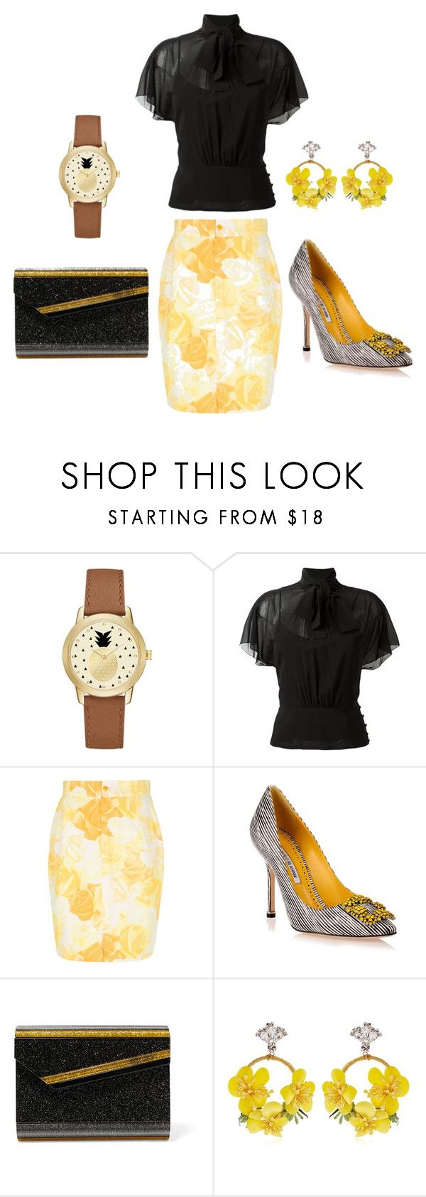 """""""Untitled #411"""" by rubysparks90 ❤ liked on Polyvore featuring Jessica Carlyle, RED Valentino, Versace, Manolo Blahnik, Jimmy Choo and VANINA"""