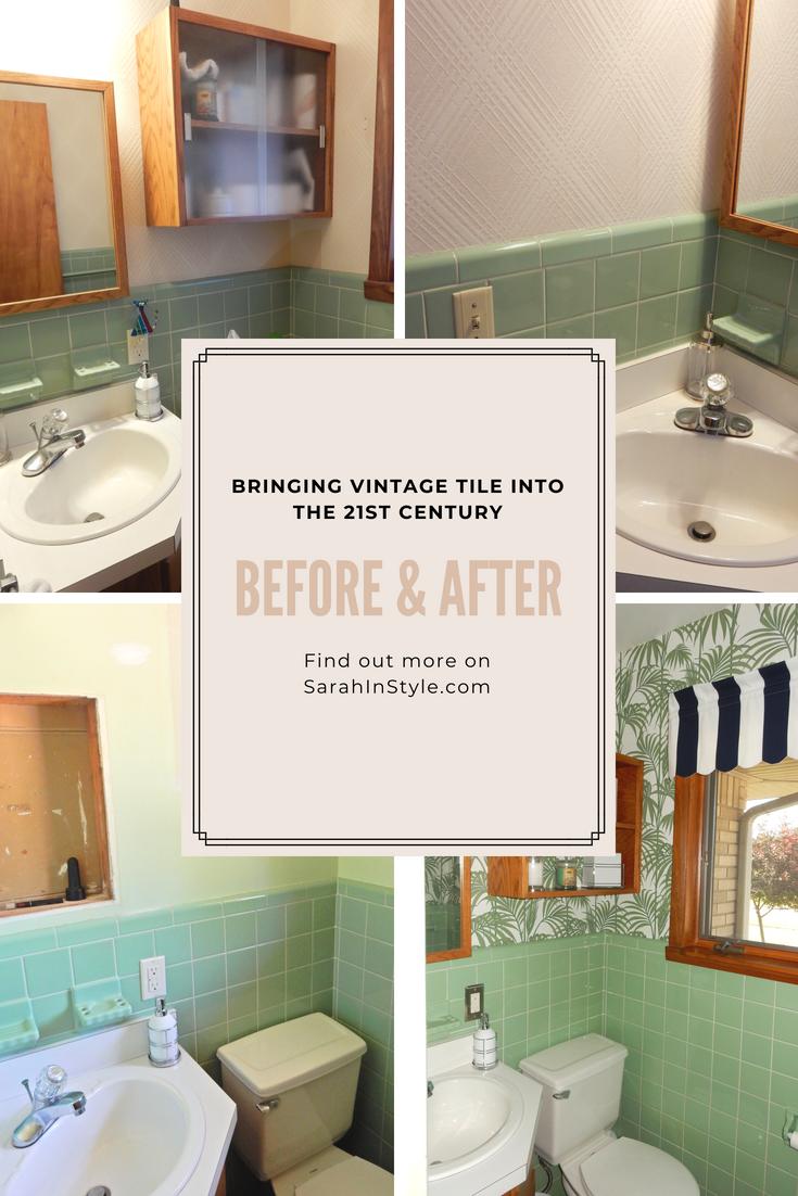 Wallpaper Wonderland Making A Dated Bathroom New Again Green