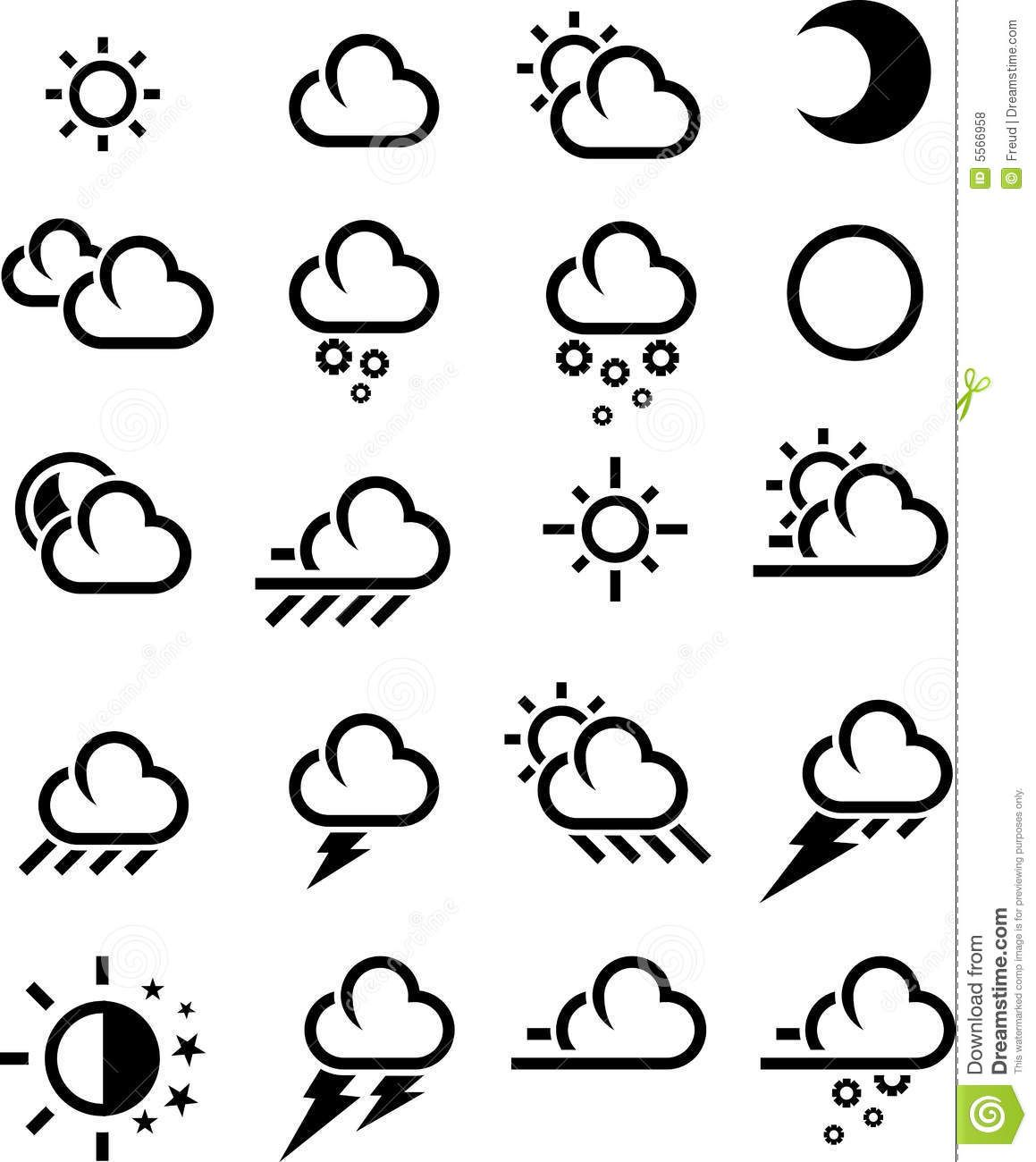 Weather Icon Aesthetic Black And White