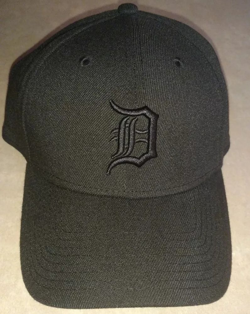 3ae323ab9 All black Detroit men's fitted cap #fashion #clothing #shoes ...