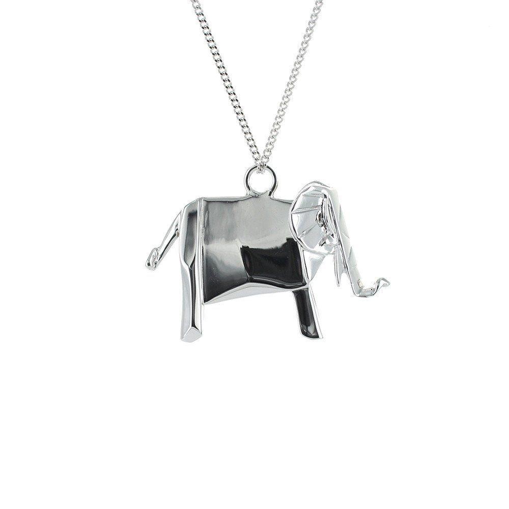 Elephant Necklace - Origami Jewellery - THE POMMIER - 1