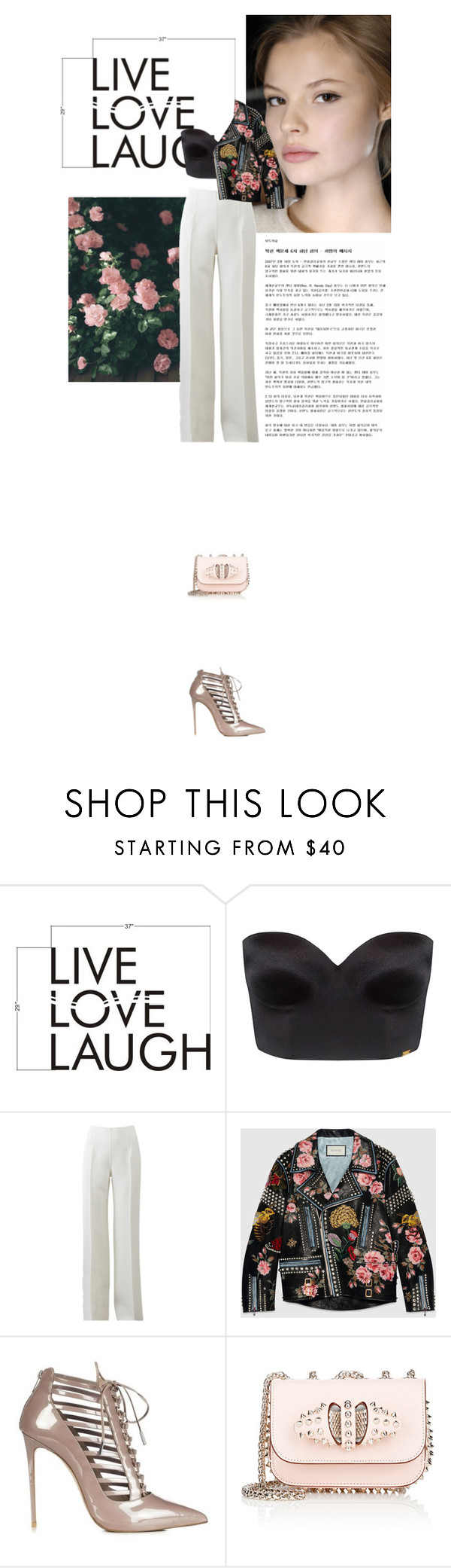 """hey"" by janchy1 ❤ liked on Polyvore featuring Magdalena, Ultimo, Michael Kors, Gucci, Christian Louboutin, women's clothing, women, female, woman and misses"