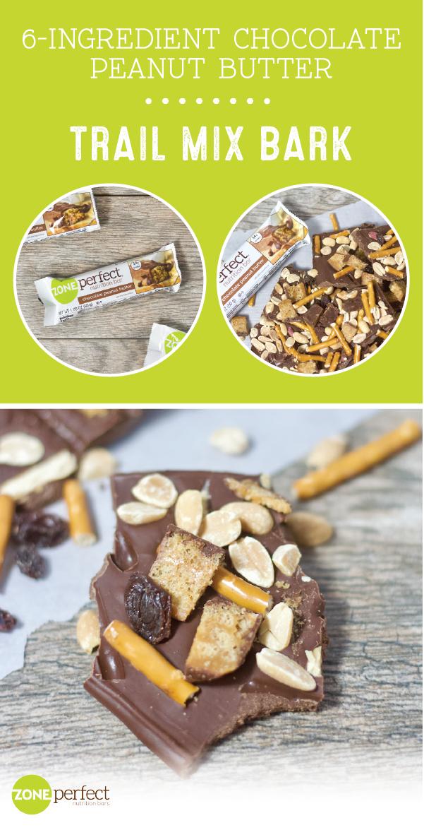Chocolate Peanut Butter Trail Mix Bark