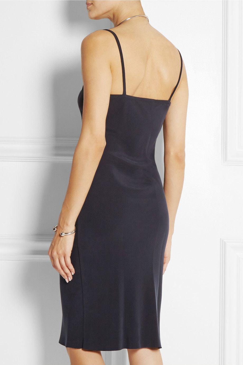 f5181c78cfee Joseph - Washed-silk slip dress | Navy Blue :)! | Silk slip, Dresses ...