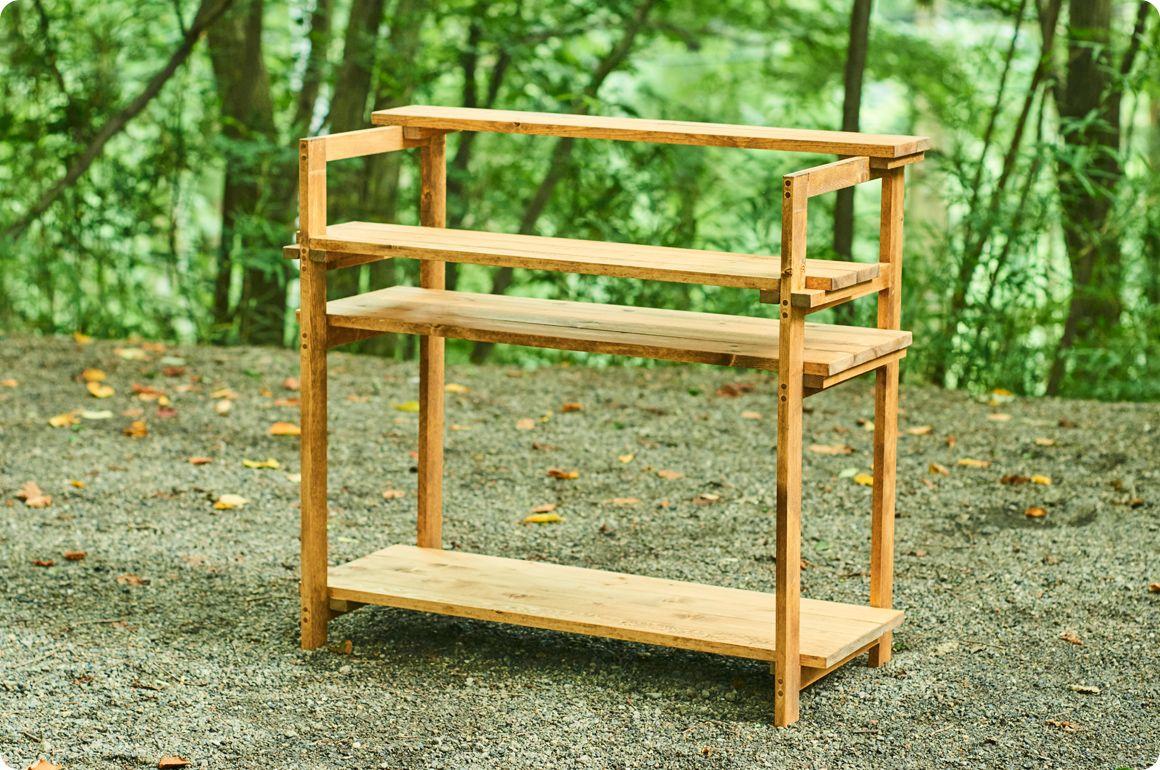 キャンプギアをdiy 変幻自在に使える木製キッチンテーブル Hondaキャンプ キッチンテーブル キャンプ テーブル Diy キャンプ テーブル 自作