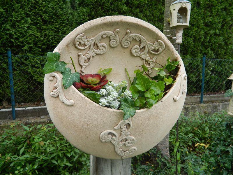 Pflanzschale Hangend An Stele Oder Wand Von Floramik Auf Dawanda Com Blumentopf Keramik Keramik Blumen Keramikschussel
