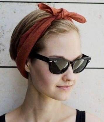 ショートカットのアレンジ 短い髪のためのヘアスタイル ターバンスタイル バンダナのヘアスタイル