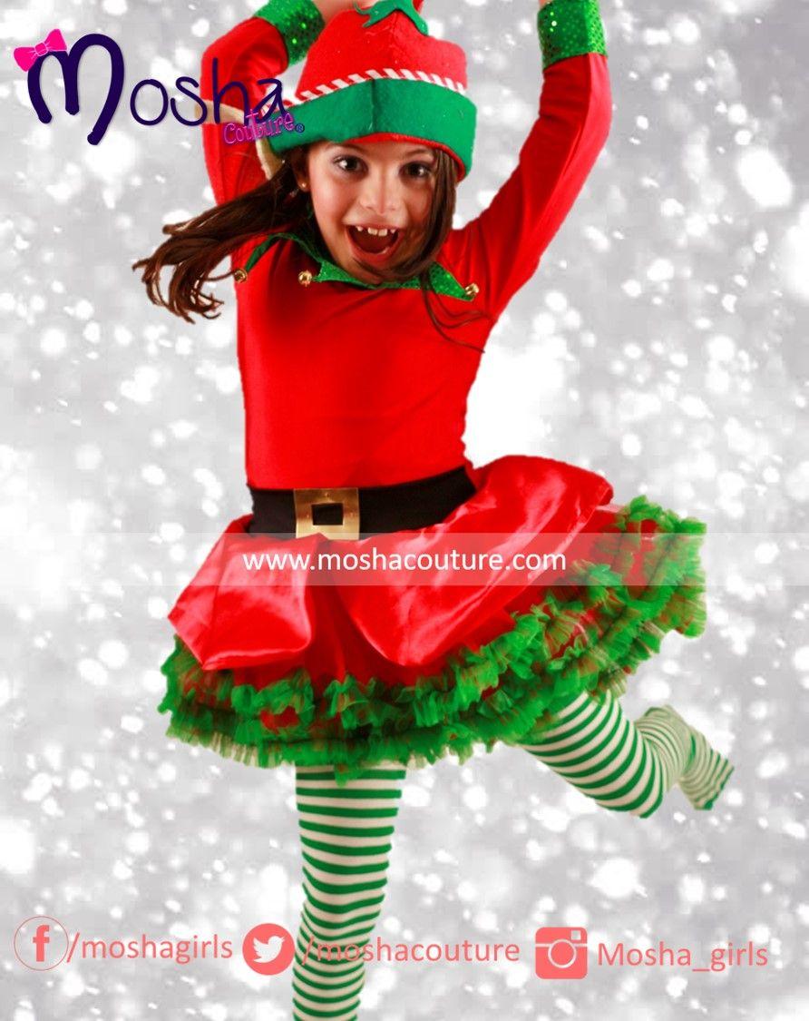 Disfraz de duende para ni a tutu elf costume dress - Disfraz navideno nina ...
