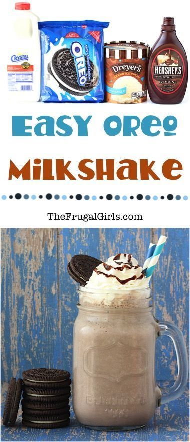 Milkshake Recipe! ~ from  ~ satisfy those secret cravings for Oreos with these delicious milkshakes!!  Just 4 ingredients!