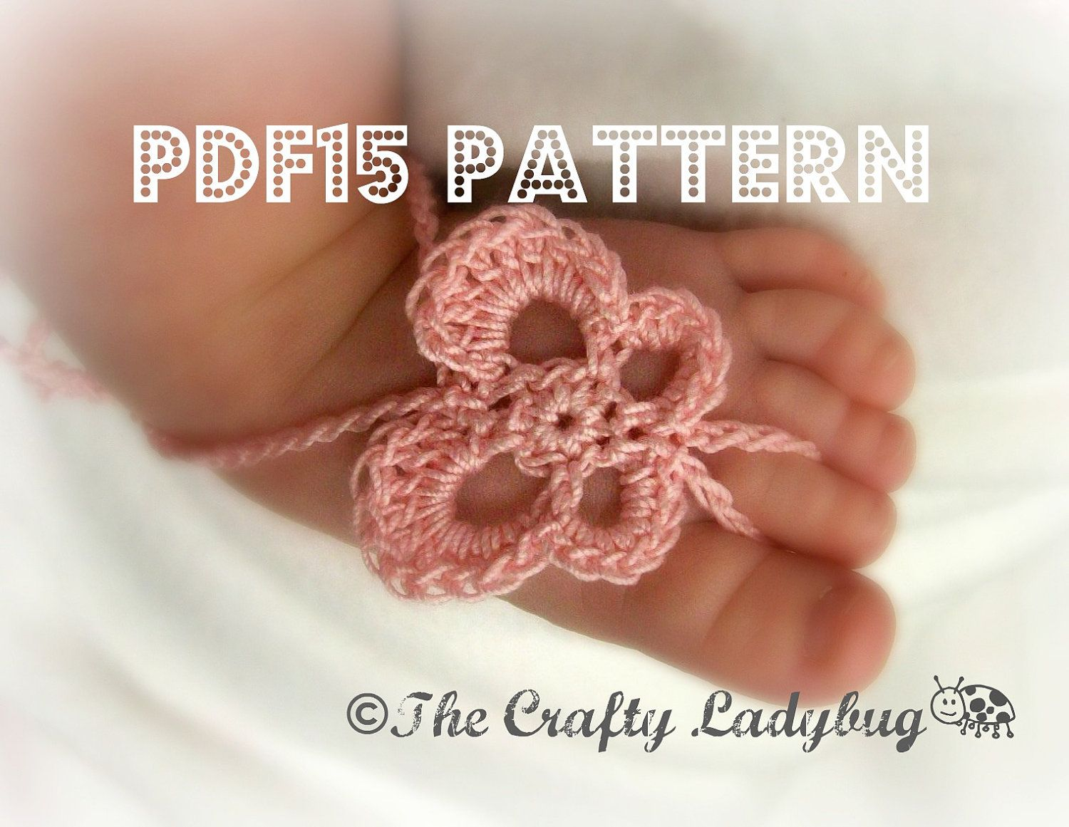 Butterfly barefoot baby sandals crochet pattern for newborn to butterfly barefoot baby sandals crochet pattern for newborn to toddler sizes pdf15 bankloansurffo Image collections