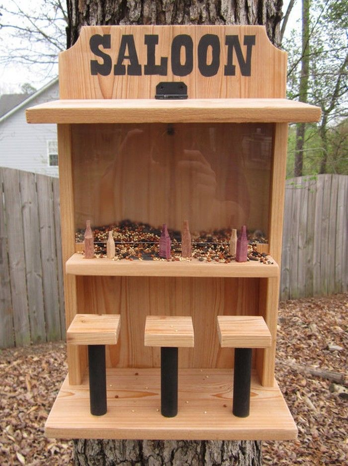Saloon Bird Feeder | DIY & Crafts that I love | Pinterest | Bird feeder, Bird and Bird houses