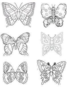 Schmetterlinge Basteln Schmetterlinge Basteln Schmetterling Ausmalen Schmetterling Illustration