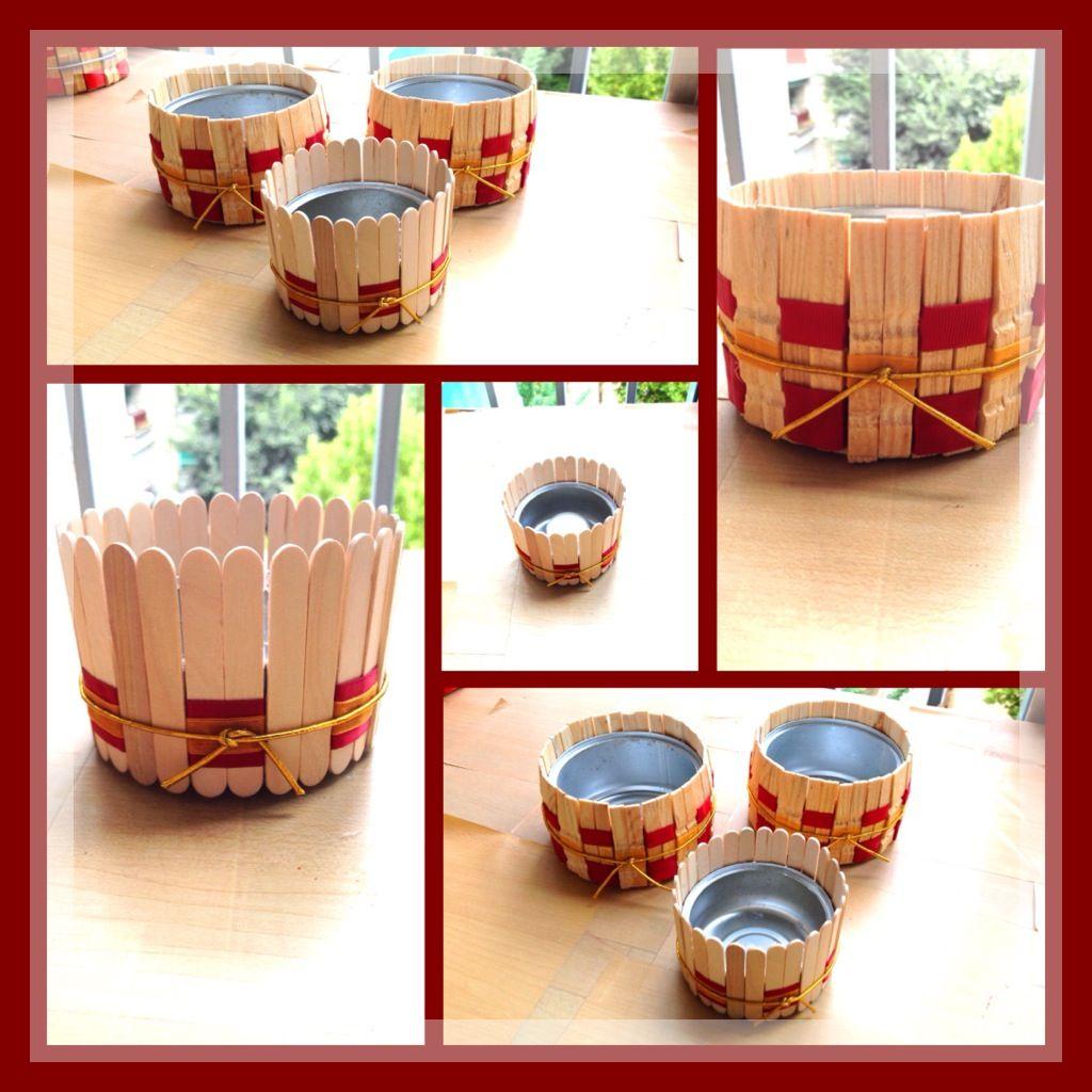 Porta velas con latas de atun pinzas de ropa o maderitas for Porta ganchos de ropa