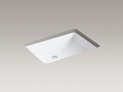 Kohler K 2215 0 Ladena 23 1 4 Quot X 16 1 4 Quot X 8 1 8 Quot Undermount Bathroom Sink Sink Undermount Sink Master Bath Sink