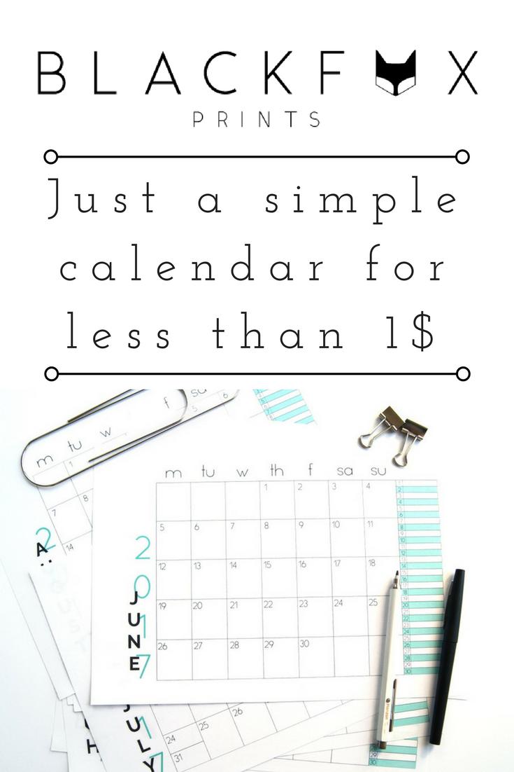 simple and minimal 2017 printable calendar just a simple printable calendar for less than 1
