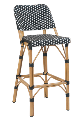Outdoor Poly Woven Aluminum Barstool Natural White Restaurant Furniture Bar Stools Furniture