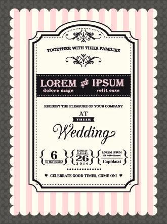 Retro wedding invitations cards design vector free vector in retro wedding invitations cards design vector free vector in encapsulated postscript eps eps stopboris Choice Image