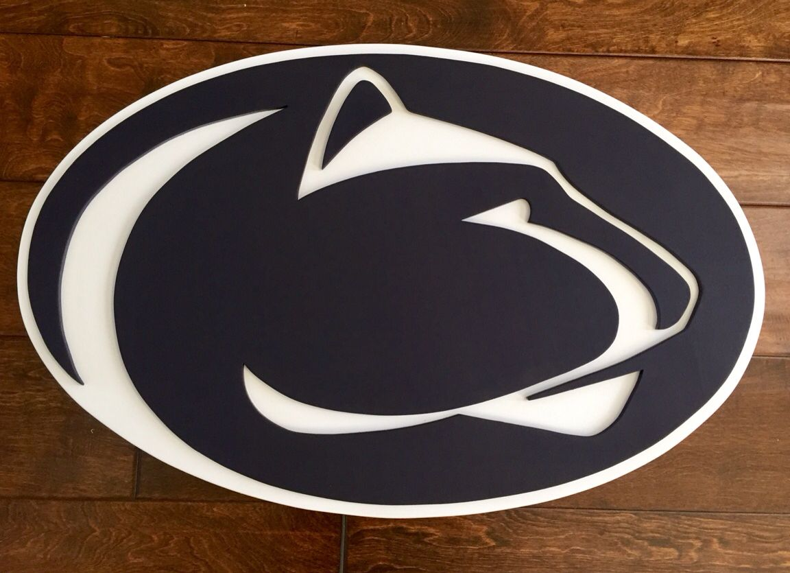 Penn state university wall decor. 3D logo sign. Hand made