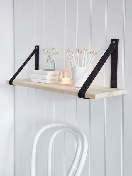 Contemporary Shelf contemporary scandi shelf - black | craft shelves, shelves and walls