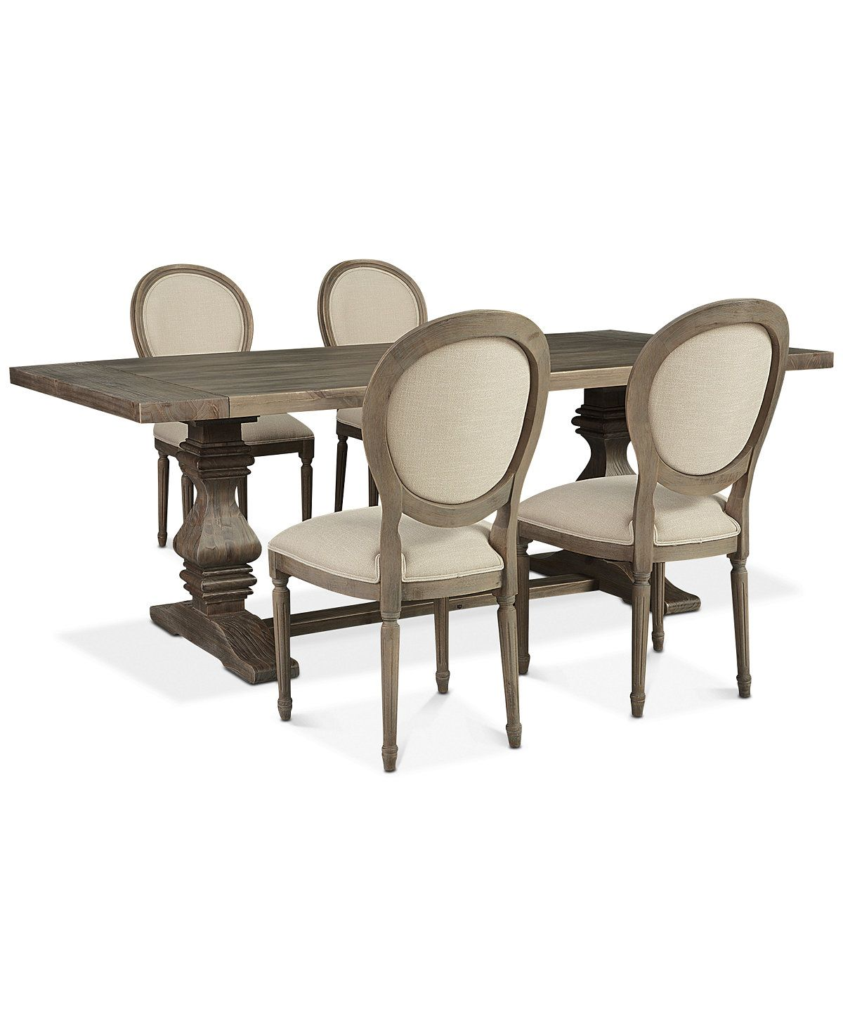 Furniture Tristan Trestle Dining Furniture 5 Pc Set Trestle