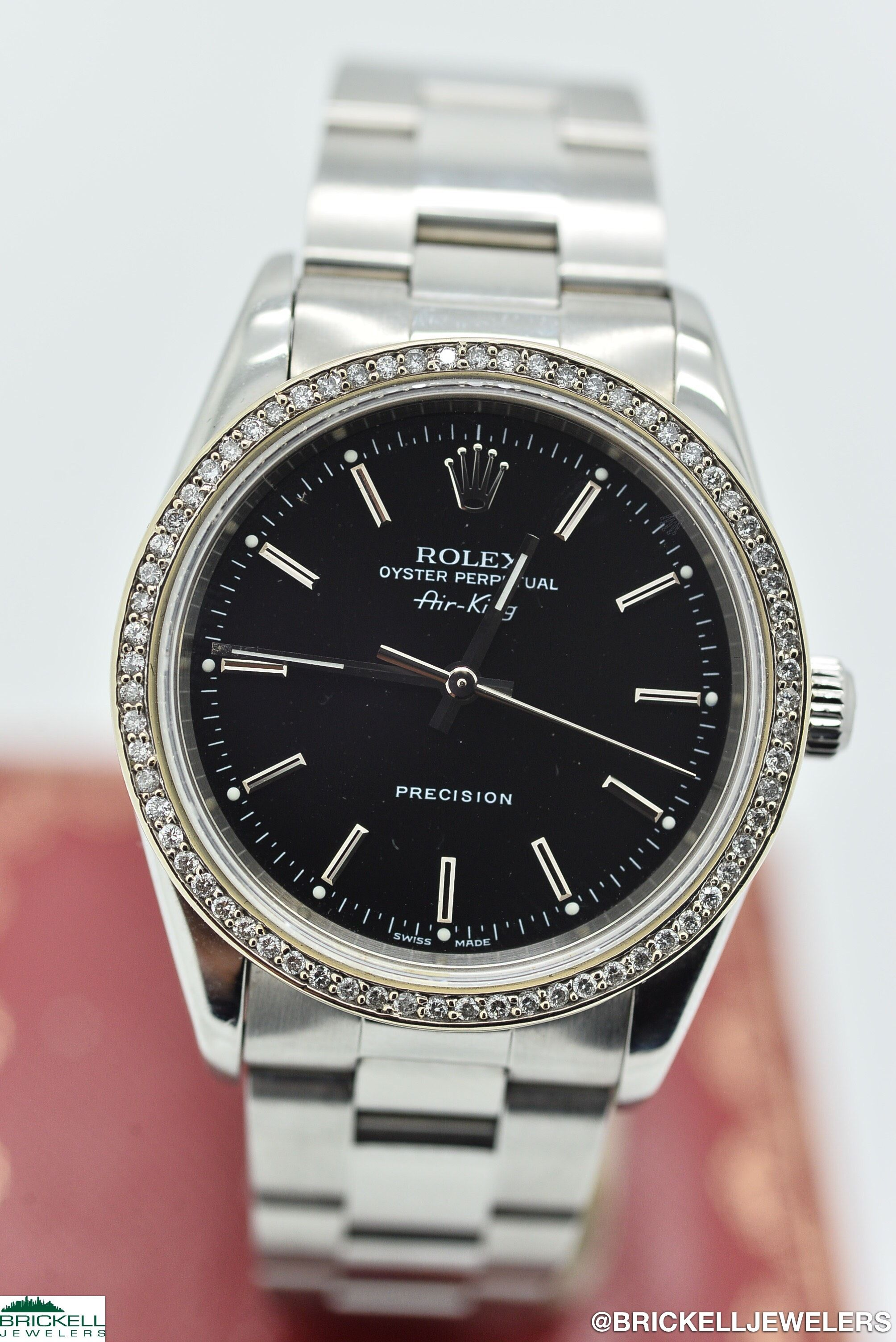 Rolex AirKing Gents Stainless Steel Silver Dial 14000M in