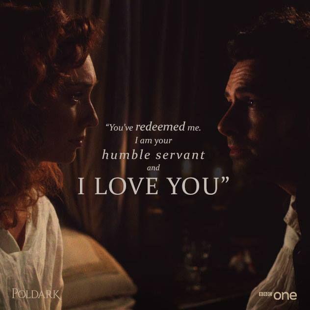 Poldark [2015] 1x4 - Ross tells Demelza he loves her for the