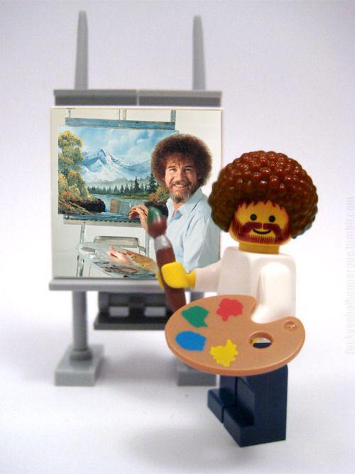 LEGO Bob Ross Painting Bob Ross!