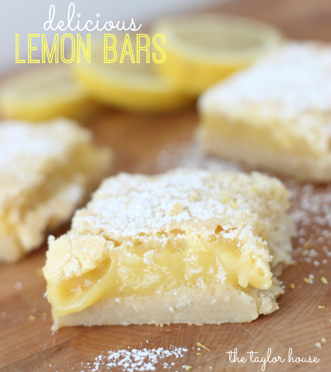 Lemon bars recipe bar house and juice for Easy recipe for desserts