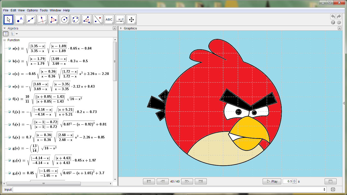 Angry Birds Math Color