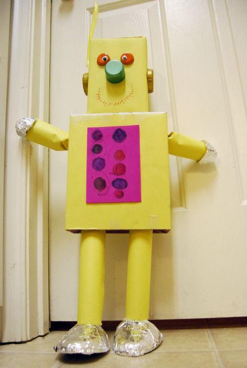 bo cardboard robot reading - photo #40