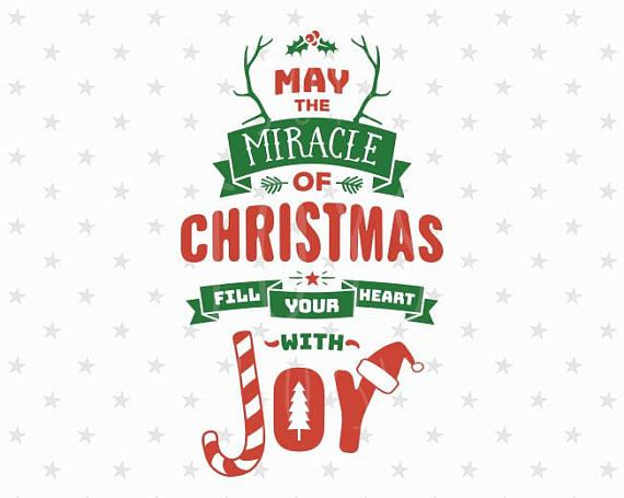 Download Christmas SVG Miracle of Christmas Svg Joy svg Merry ...