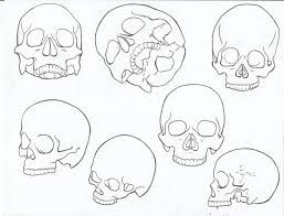 Simple Skull Outline Google Search Line Drawing Tattoos Skulls Drawing Outline Drawings