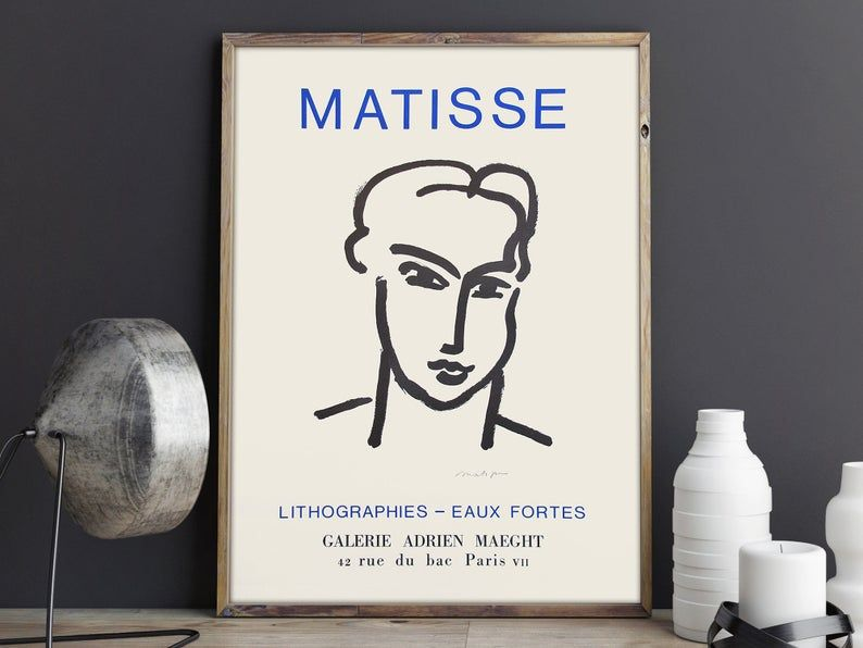 Henri Matisse - Exhibition poster advertising an a