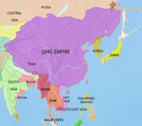 Map Of Asia Japan And China.History Map And Timeline Of Ancient East Asia Showing China Japan