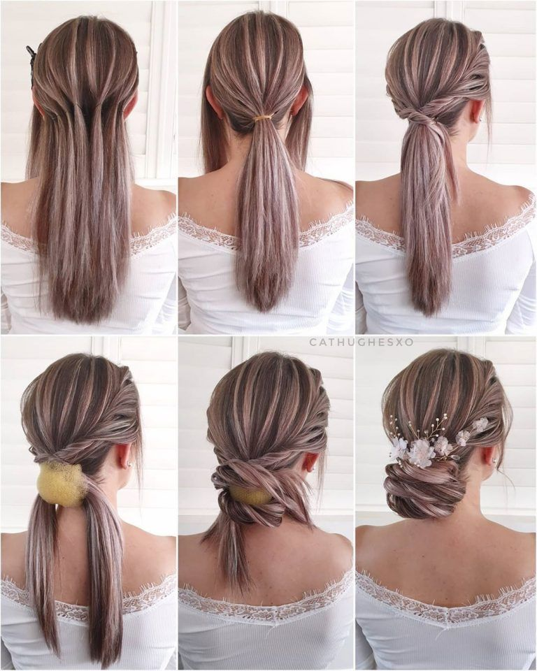 Simple And Pretty Diy Updo Dating Hairstyle Tutorials For Wedding Guest In 2020 Hair Tutorial Updo Hairstyles Tutorials Wedding Guest Hairstyles
