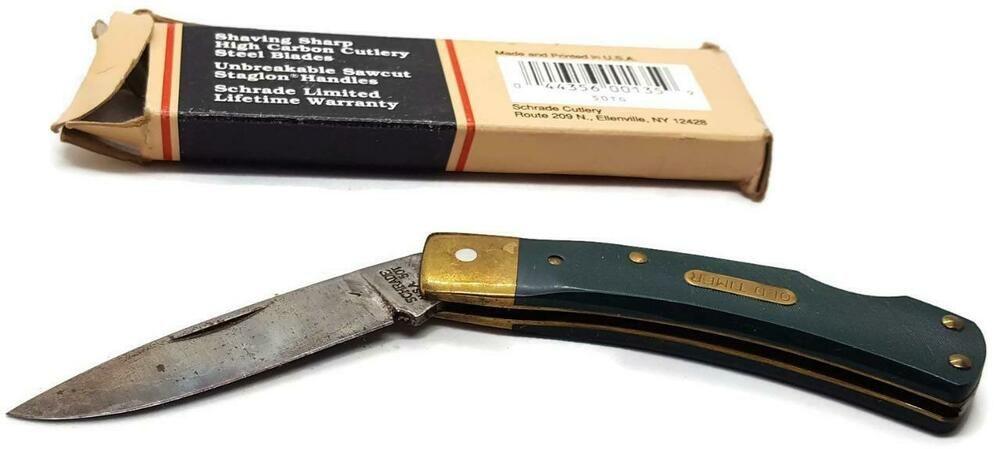 Vintage Schrade Old Timer USA 50TG Bruin Lockback Pocket Knife, Box