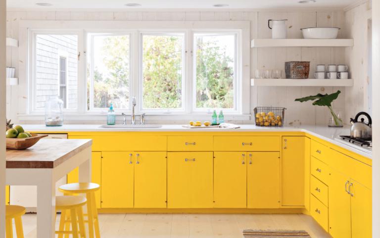 ديكورات مطابخ واسعه وجميلة سيدات مصر Yellow Kitchen Decor Yellow Kitchen Designs Yellow Kitchen Cabinets