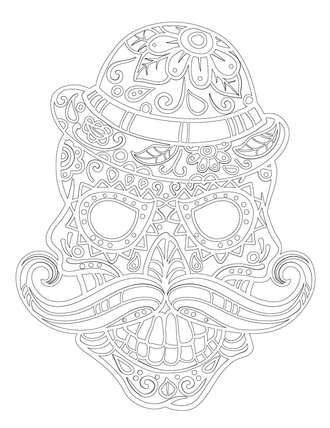 Halloween art therapy coloring pages - Art Therapy Vysm T Skull Relaxation Coloring Book Not Only For Adults