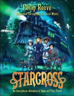 Starcross by Philip Reeve. Somebody's got to save the known Universe. Again. Art Mumby, his mostly irritating younger sister, Myrtle, and their mother have been invited to take a vacation at Starcoss, the finest sea-bathing resort in the entire Asteriod Belt. Just one problem . . . there are no seas anywhere in the Asteroid Belt, and that's just the first sign that the hotel is not what it seems.