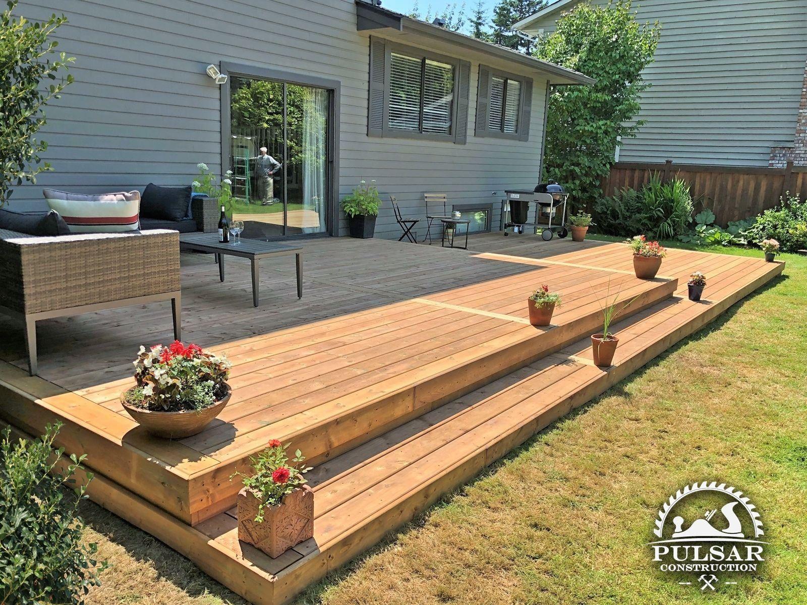 Split-Level Patio Deck | 1000 in 2020 | Deck designs ... on Split Level Backyard Ideas id=11187