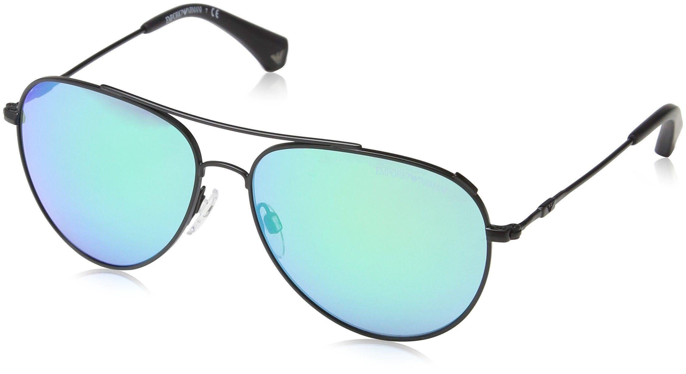 Emporio Armani EA2010 Matte Black Aviator Sunglasses. Included Content: Original Case, Cleaning Cloth and Booklet.