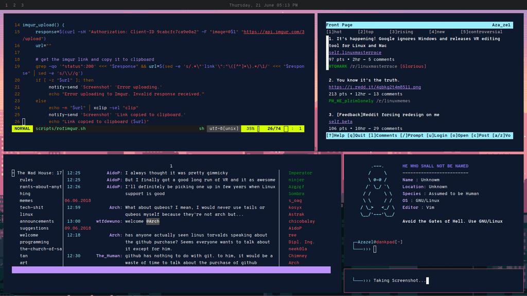 i3gaps] BTW, I use Arch : unixporn | OS Themes/Customization