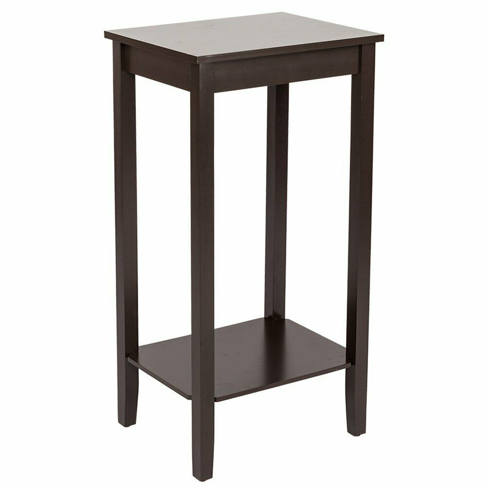 Wood Side Table End Telephone Table With Shelf Tall Sofa Couch Side Coffee Table Sofa Table Ideas Of In 2020 Side Table Wood Side Coffee Table Bedroom Night Stands
