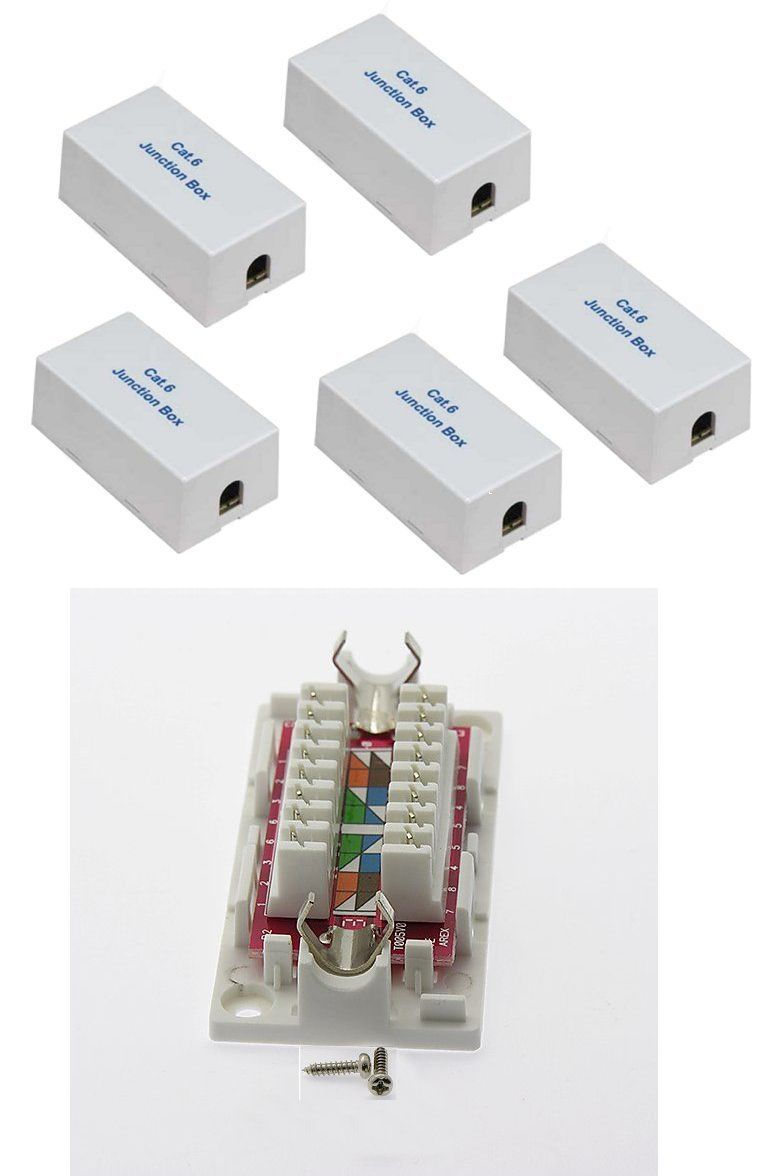 5 X Cat6 Cat 6 Junction Box Type 110 Punch Down Ethernet Extender Adapter Ul Junction Boxes Plates On Wall Wall Jack