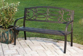 Outstanding Amazon Com Metal Garden Bench Patio Lawn Garden For Gmtry Best Dining Table And Chair Ideas Images Gmtryco